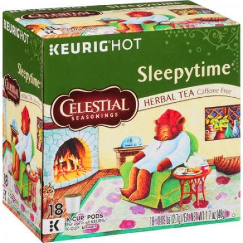 Celestial Seasonings Keurig Hot Sleepytime Herbal Tea K-Cup Pods, .09 oz, 18 count