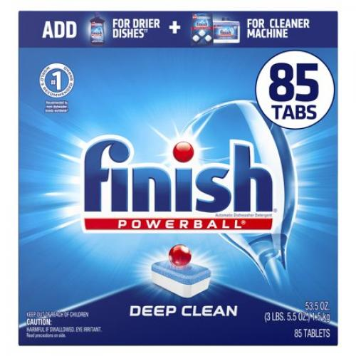 Finish Powerball Tabs Dishwasher Detergent Tablets Fresh Scent - 62ct