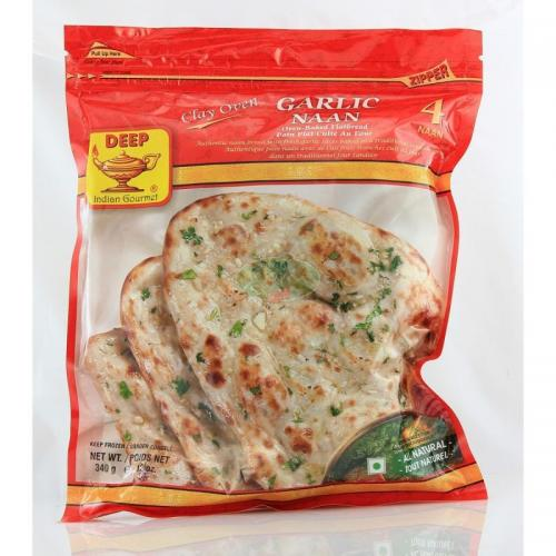 Deep Garlic Naan 4 Pcs