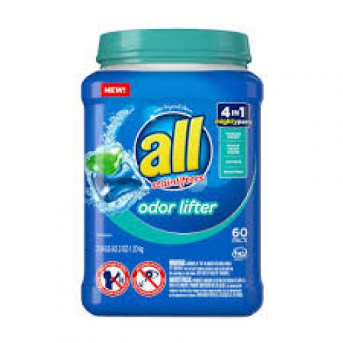 all Mighty 4-in-1 With Odor Lifter Unit Laundry Detergent Pacs - 60ct