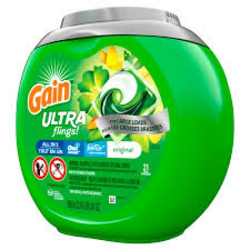Gain Ultra Flings Original Large Loads Laundry Detergent Pacs - 21ct