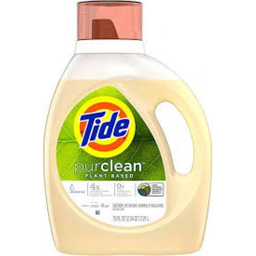 Tide Purclean Plant-based Honey Lavender Liquid Laundry Detergent Eco-Box HE Compatible - 105 fl oz