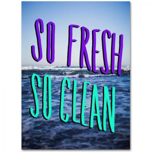 Trademark Fine Art So Fresh So Clean Canvas Art by Leah Flores