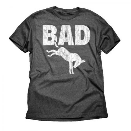 Bad Ass Attitude Funny Big Mens Graphic Charcoal Tee Shirt