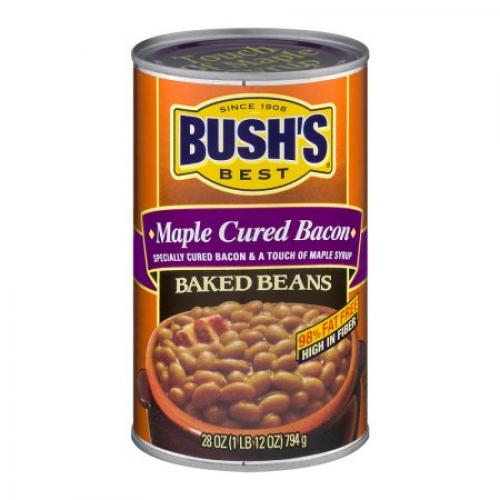 BUSH'S BEST Maple Cured Bacan Baked Beans, 28.0 OZ