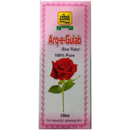Three Rivers  (ARQ-e-Gulab )Rose Water  240 ml